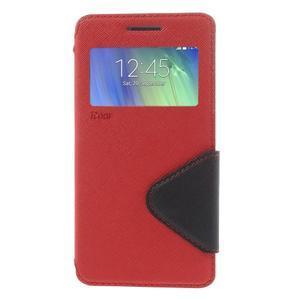Stylové pouzdro s okýnkem na Samsung Galaxy A5 - červené - 3