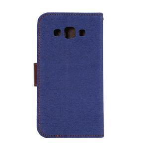 Jeans peněženkové pouzdro na Samsung Galaxy note 3 - tmavěmodré - 3
