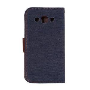 Jeans peněženkové pouzdro na Samsung Galaxy note 3 - černomodré - 3