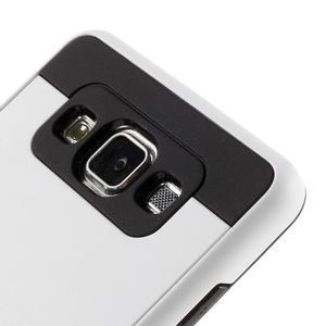 Hybridní gelové/plastové pouzdro na Samsung Galaxy A5 - bílé - 3