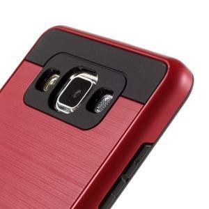 Hybridní gelové/plastové pouzdro na Samsung Galaxy A5 - červené - 3