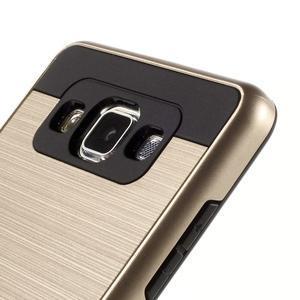 Hybridní gelové/plastové pouzdro na Samsung Galaxy A5 - zlaté - 3