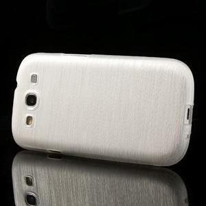 Brush gelový kryt na Samsung Galaxy S III / Galaxy S3 - bílý - 3