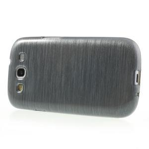 Brush gelový kryt na Samsung Galaxy S III / Galaxy S3 - šedý - 3