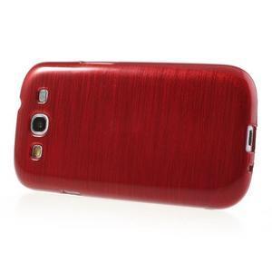 Brush gelový kryt na Samsung Galaxy S III / Galaxy S3 - červený - 3