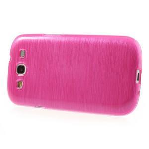 Brush gelový kryt na Samsung Galaxy S III / Galaxy S3 - rose - 3