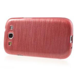 Brush gelový kryt na Samsung Galaxy S III / Galaxy S3 - růžový - 3