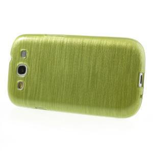 Brush gelový kryt na Samsung Galaxy S III / Galaxy S3 - zelený - 3