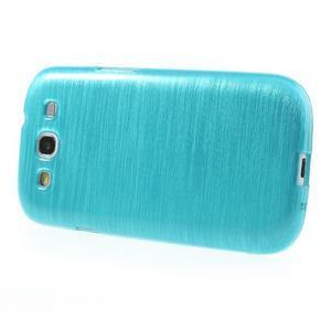 Brush gelový kryt na Samsung Galaxy S III / Galaxy S3 - modrý - 3