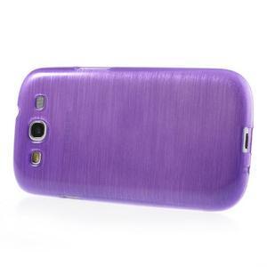 Brush gelový kryt na Samsung Galaxy S III / Galaxy S3 - fialový - 3