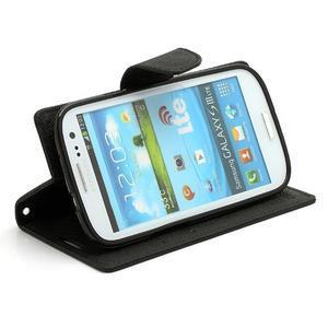 Mr. Fancy koženkové pouzdro na Samsung Galaxy S3 - černé - 3
