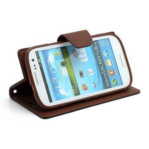 Mr. Fancy koženkové pouzdro na Samsung Galaxy S3 - černé/hnědé - 3