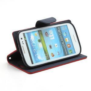 Mr. Fancy koženkové pouzdro na Samsung Galaxy S3 - červené - 3