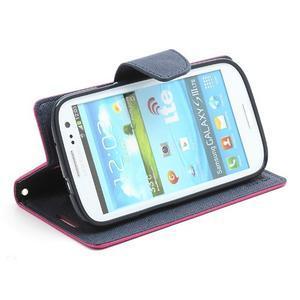 Mr. Fancy koženkové pouzdro na Samsung Galaxy S3 - rose - 3