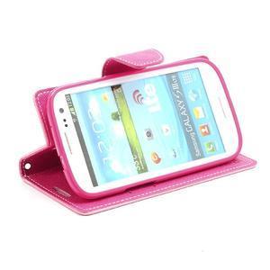 Mr. Fancy koženkové pouzdro na Samsung Galaxy S3 - růžové - 3