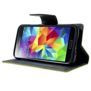 Diary PU kožené pouzdro na Samsung Galaxy S5 mini - zelené - 3