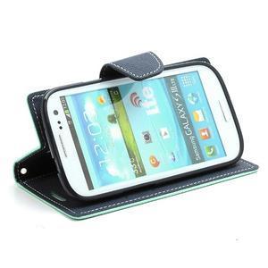 Mr. Fancy koženkové pouzdro na Samsung Galaxy S3 - azurové - 3