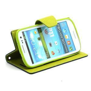 Mr. Fancy koženkové pouzdro na Samsung Galaxy S3 - tmavěmodré - 3