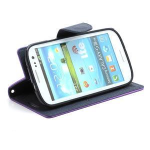 Mr. Fancy koženkové pouzdro na Samsung Galaxy S3 - fialové - 3