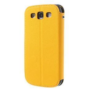 Peněženkové pouzdro s okýnkem pro Samsung Galaxy S3 / S III - žluté - 3