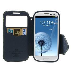 Peněženkové pouzdro s okýnkem pro Samsung Galaxy S3 / S III - zelené - 3