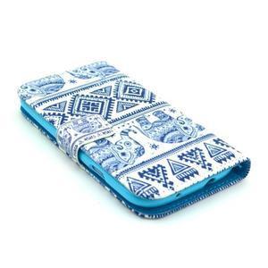 Peněženkové pouzdro na mobil Samsung Galaxy S III - sloni - 3