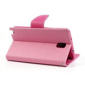 Goosp PU kožené pouzdro na Samsung Galaxy Note 3 - růžové - 3