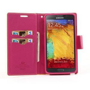 Goosp PU kožené pouzdro na Samsung Galaxy Note 3 - žluté - 3