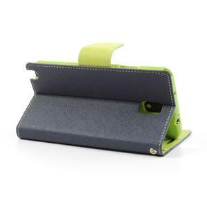 Goosp PU kožené pouzdro na Samsung Galaxy Note 3 - tmavěmodré - 3