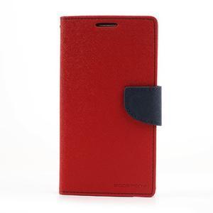 Goosp PU kožené pouzdro na Samsung Galaxy Note 3 - červené - 3