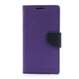 Goosp PU kožené pouzdro na Samsung Galaxy Note 3 - fialové - 3