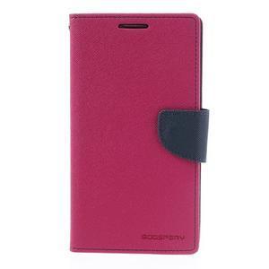 Goosp PU kožené pouzdro na Samsung Galaxy Note 3 - rose - 3