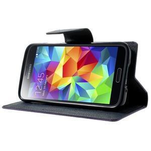 Diary PU kožené pouzdro na Samsung Galaxy S5 mini - fialové - 3