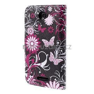 Koženkové pouzdro na mobil Sony Xperia E4 - motýlci - 3