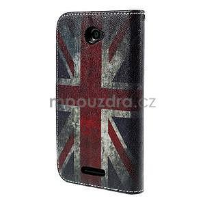 Koženkové pouzdro na mobil Sony Xperia E4 - UK vlajka - 3