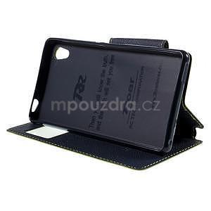 Peněženkové pouzdro s okýnkem pro Sony Xperia M4 Aqua - zelené - 3