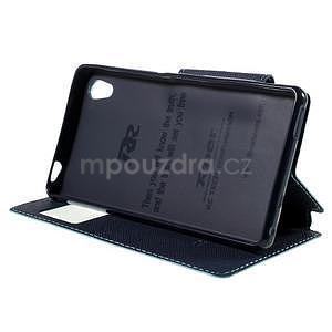 Peněženkové pouzdro s okýnkem pro Sony Xperia M4 Aqua - světlemodré - 3