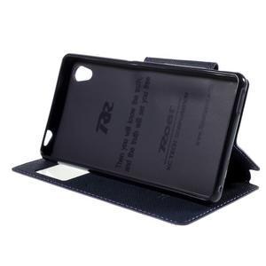 Peněženkové pouzdro s okýnkem pro Sony Xperia M4 Aqua - fialové - 3