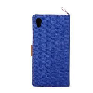 Jeans peněženkové pouzdro na mobil Sony Xperia M4 Aqua - modré - 3