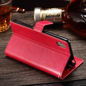 Koženkové pouzdro Sony Xperia M4 Aqua - rose - 3