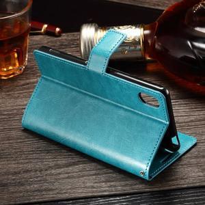 Koženkové pouzdro Sony Xperia M4 Aqua - modré - 3