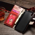 Koženkové pouzdro Sony Xperia M4 Aqua - hnědé - 3/7