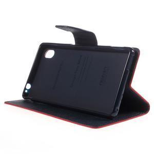 Ochranné pouzdro na Sony Xperia M4 Aqua - červené/tmavěmodré - 3