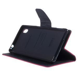 Ochranné pouzdro na Sony Xperia M4 Aqua - rose/tmavěmodré - 3