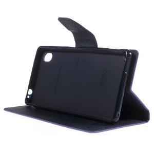 Ochranné pouzdro na Sony Xperia M4 Aqua - fialové/tmavěmodré - 3