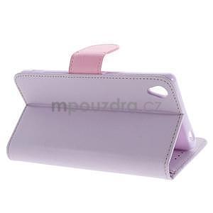 Koženkové pouzdro na Sony Xperia Z3 - fialové - 3