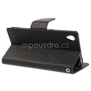 Peněženkové pouzdro na mobil Sony Xperia Z3 - černé - 3