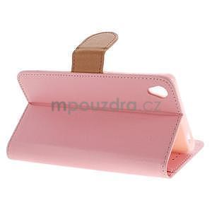 Koženkové pouzdro na Sony Xperia Z3 - růžové - 3