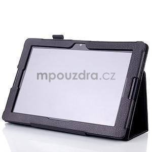Koženkové pouzdro na tablet Lenovo A10-70 - černé - 3