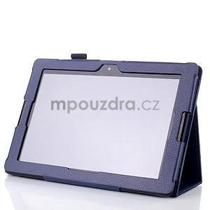 Koženkové pouzdro na tablet Lenovo A10-70 - tmavě modré - 3